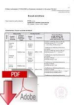 Rozsah akreditácie skúšobné a kalibračné laboratórium